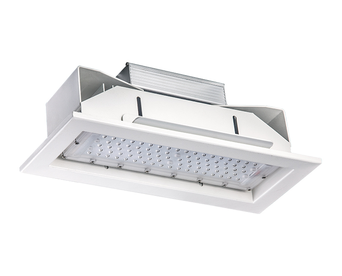 Economical 60w Recessed Petrol station LED Canopy Light
